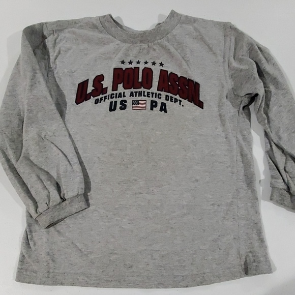 U.S. Polo Assn. Other - Boy's Grey US Polo Assn long sleeve tee 5/6